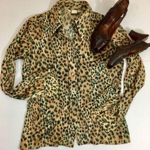 Vintage 'It's Gailord' Leopard Blouse